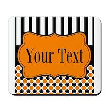 Personalizable Orange and Black Mousepad