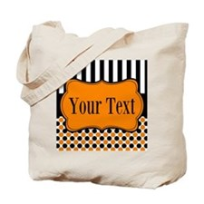 Personalizable Orange and Black Tote Bag