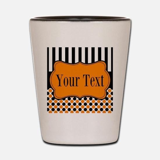Personalizable Orange and Black Shot Glass