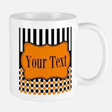 Personalizable Orange and Black Mugs