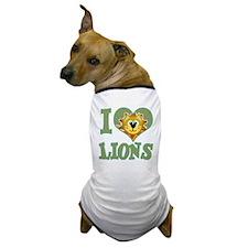 I Love (Heart) Lions Dog T-Shirt