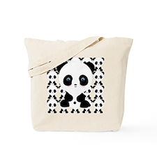Cute Panda Bear Tote Bag