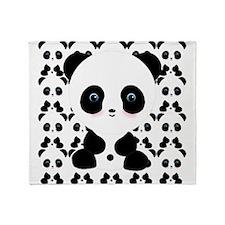 Cute Panda Bear Throw Blanket