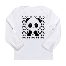Cute Panda Bear Long Sleeve T-Shirt