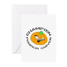 Pumpkin Carver Greeting Cards (Pk of 10)