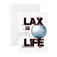 Lax Is Life Greeting Cards (Pk of 10)