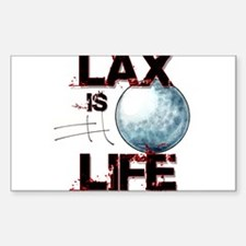 Lax Is Life Rectangle Decal