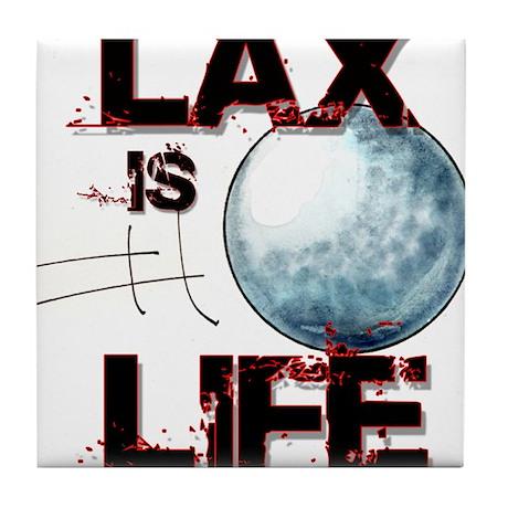 Lax Is Life Tile Coaster