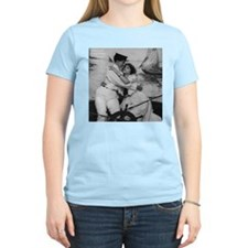 Sailor Girls Kissing Vintage Photo T-Shirt