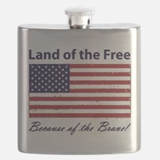Land of the Free - Because of the Brave! Flask