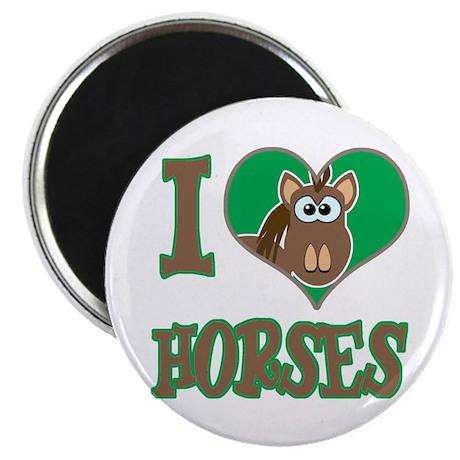 I Love (Heart) Horses Magnet