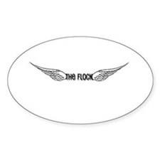 The Flock Oval Decal