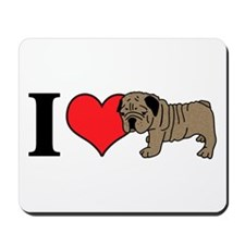 I (Heart) Bulldogs! Mousepad