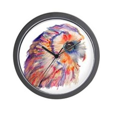 Colorful Owl (No Background) Wall Clock