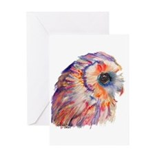 Colorful Owl (No Background) Greeting Cards