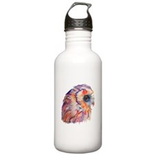 Colorful Owl (No Background) Water Bottle
