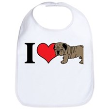 I (Heart) Bulldogs! Bib