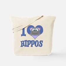 I Love (Heart) Hippos Tote Bag