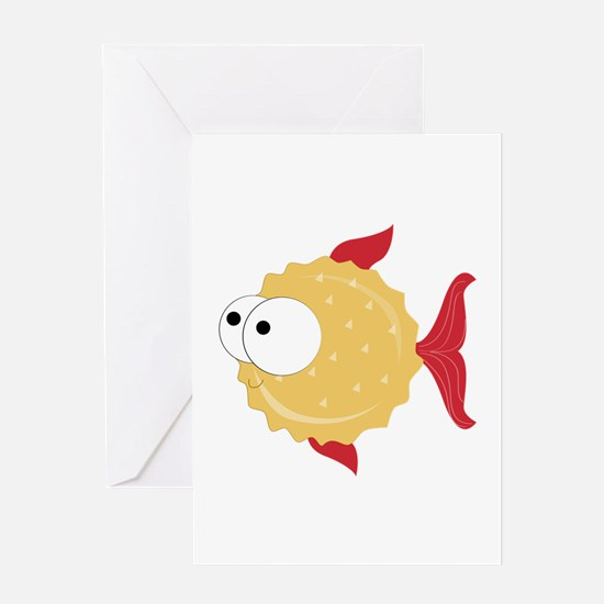 Puffer Fish Greeting Cards