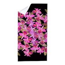 Orchid Flowers Beach Towel
