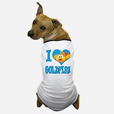 I Love (Heart) Goldfish Dog T-Shirt
