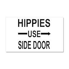 HIPPIES Car Magnet 20 x 12