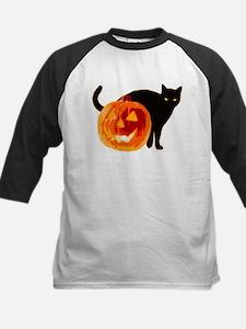 HALLOWEEN BLACK CAT AND PUMPKIN Baseball Jersey