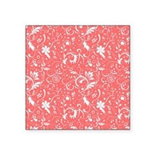 "Cute Coral Square Sticker 3"" x 3"""