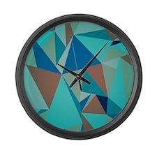 Cute Geometric Large Wall Clock