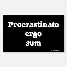 I procrastinate ergo I am Rectangle Decal