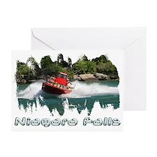 Niagara Jet Boat Greeting Cards (Pk of 10)