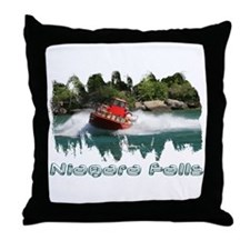 Niagara Jet Boat Throw Pillow