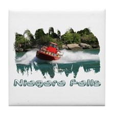 Niagara Jet Boat Tile Coaster