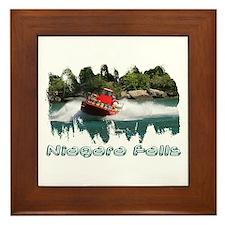 Niagara Jet Boat Framed Tile