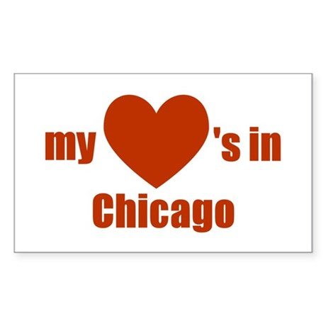 Chicago Rectangle Sticker