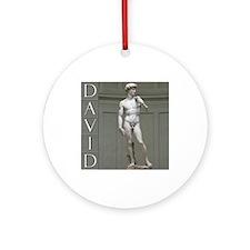 David Ornament (Round)
