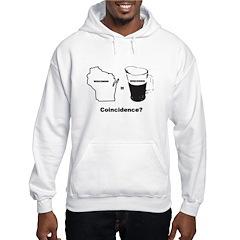 wisconsin beer drinking Hooded Sweatshirt