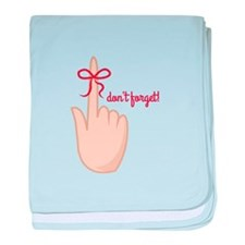 Dont Forget baby blanket