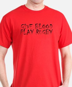 GIVE BLOOD PLAY RUGBY DARK TEE