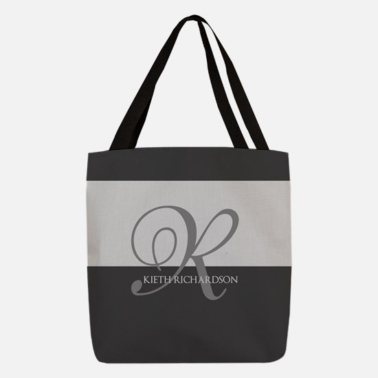 Elegant Custom Monogram Polyester Tote Bag