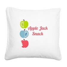 Apple Jack Snack Square Canvas Pillow