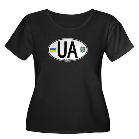 Ukraine Intl Oval Women's Plus Size Scoop Neck Dar