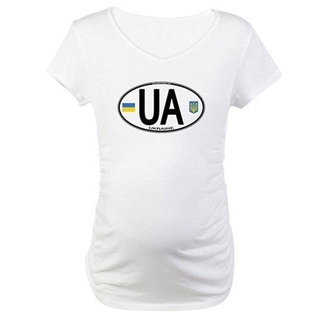 Ukraine Intl Oval Maternity T-Shirt