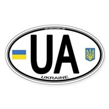 Ukraine Intl Oval Oval Decal