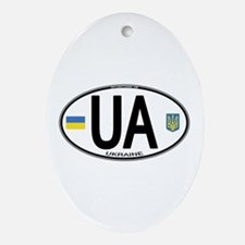 Ukraine Intl Oval Oval Ornament