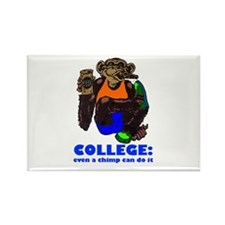 College Chimp Rectangle Magnet (100 pack)