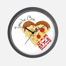One Hot Slice Wall Clock
