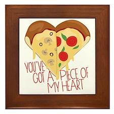 Piece of My Heart Framed Tile