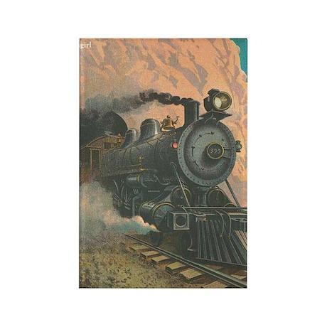 Antique Train Victorian Steam Engine Vintage Recta
