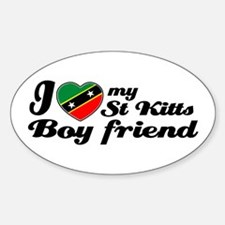 I love my St Kitts Boyfriend Oval Decal